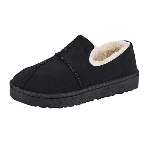 Maleya Damen Slip-On Flache Ankle Bare Snow