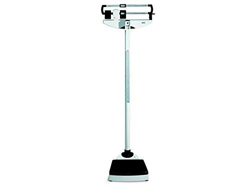 Escalas de columna mecánica con ajuste de peso en el nivel de los ojos.Peso puede medirse de forma convencional mediante la alineación de dos indicadores de cromo plateado.Manual de usuario en GB, ES, FR, DE, EN. capacidad: 220 kg sensibilidad: 50 g ...