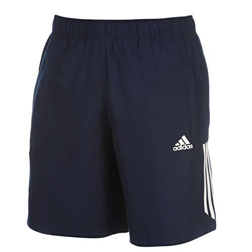 adidas Essentials 3-Stripes Herren Chelsea Athletic Laufshorts (Navy/Weiß, M) - Rugby-herren-shorts