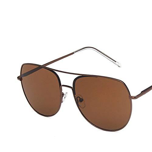 FIRM-CASE Rund Pilot Sonnenbrille Männer Frauen Metall Double Beam Sonnenbrillen Retro Photochromie Brillen, 6