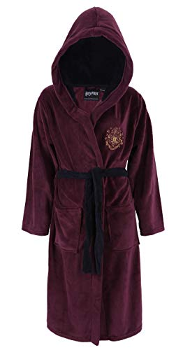 Harry Potter Hogwarts Herren Kapuzen-Bademantel Morgenmantel Saunamantel Small/Medium