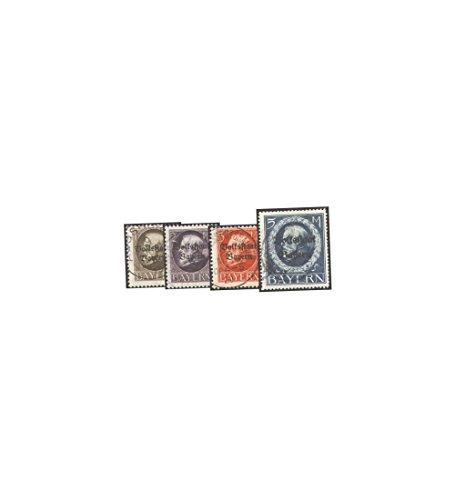 Goldhahn Bayern mit Nr. 128-131 gestempelt Briefmarken für Sammler