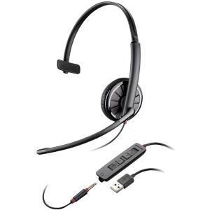 Image of Plantronics Blackwire c315-m Monophon Kopfhörer schwarz Kopfhörer mit Mikrofon–Kopfhörer mit Mikrofon (Monophon, Kopfband, Schwarz, Kontrolle Online, verkabelt, ohraufliegend)