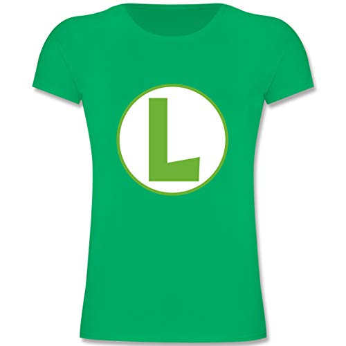 Kostüm Cute Nerd Mädchen - Karneval & Fasching Kinder - L Spiel Kostüm - 104 (3-4 Jahre) - Grün - F131K - Mädchen Kinder T-Shirt