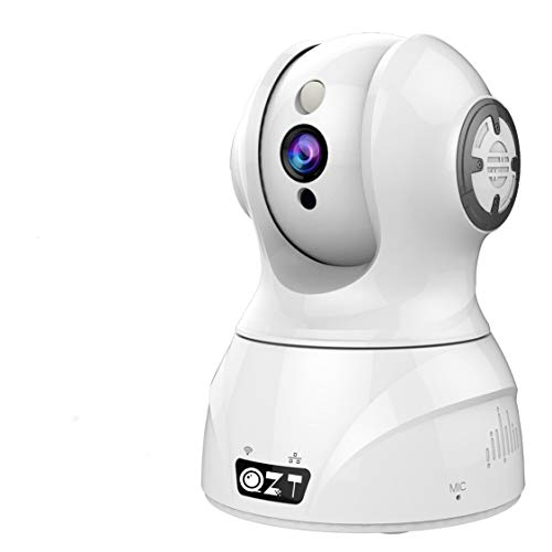 QZT FHD 1080P Telecamera wi-fi Interno senza fili, Videocamera Sorveglianza WiFi con Visione Notturna - AI IP Camera Work with Alexa