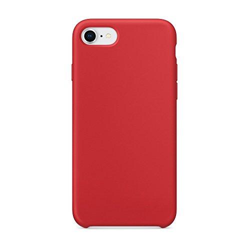 Cover iphone 8, cover iphone 7, surphy ultra sottile e anti-graffio antiscivolo silicone custodia cover per iphone 8, iphone 7 (4.7 pollici) (rosso)
