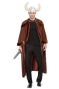 Smiffys 50723 - Disfraz de vikingo para hombre (talla única), color marrón