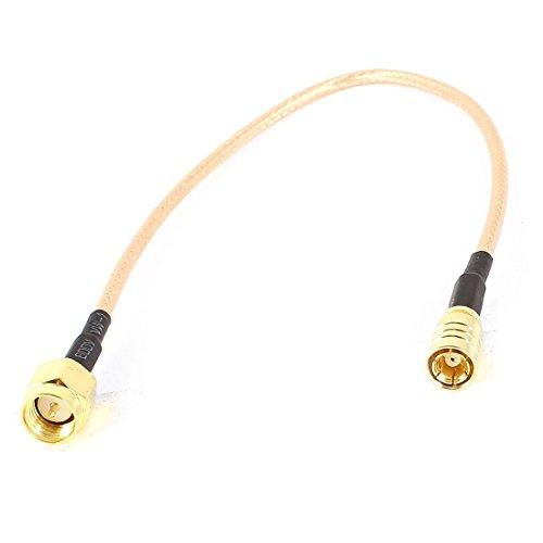 Stecker Kabel - TOOGOO(R) SMA maennlich auf SMB Buchse M/F Stecker RG316 Koaxialkabel Jumper Kabel 21,59 cm Schwarz+Gold (Smb-männlich)