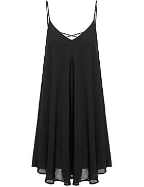Damen Sommer Chiffon Kleid Stran