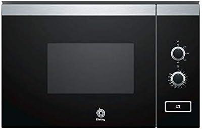 Balay 3CP4002X0 integrable: microondas (integrable, microondas únicamente, 20l, 800W, mando giratorio, acero inoxidable, negro)