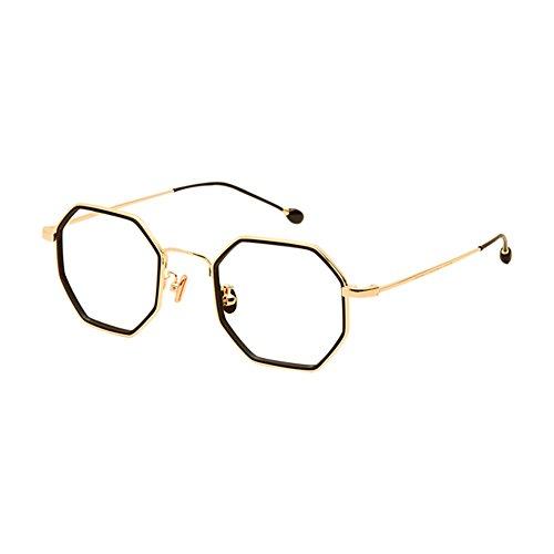 Zhuhaixmy Irregulär Retro Metall Rahmen Ultraleicht Kurzsichtigkeit Linsen Brillen Persönlichkeit Rahmen Brille Kurzsichtig Glasses Stärke -0.5~-6.0 (Dies sind keine Lesebrillen)