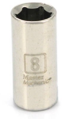 Standard Plumbing Supply 199304 APEX TOOL GROUP-ASIA Master Mechanic 1/4 Drive 6 Point Shallow Socket, 8mm by Apex Tool