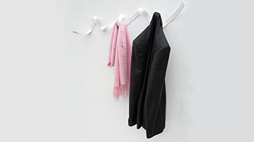 HEADSPRUNG Baustahl Wand montiert Band Garderobe, matt, Weiß - Rack Band Coat
