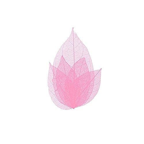 Feuilles squelette pour ongles - nail art - couleur rose