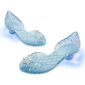 Disney - Frozen: El Reino del Hielo - Zapatos de disfraz Princesa Elsa para niña - Talla UK 9 / 10 . USA 11 / 12 , EU 27 / 28 de Disney