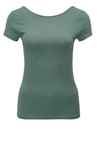 Only Onllive Love SS Lace Up Top Noos, T-Shirt Donna Verde
