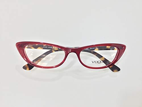 Vogue Damen Brillengestell Rosso/Avana