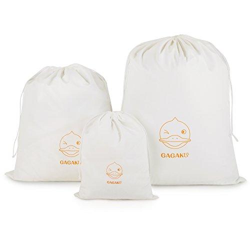 GAGAKU Organizer Beutel für Koffer Zuziehbeutel Rucksack und Reisetasche Set Wasserdichtes - 3 Teiliges Set