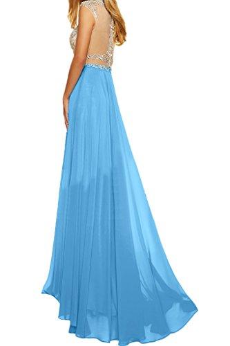 ivyd ressing robe robe deux partie mousseline et pierres tuell A ligne Party Prom Lave-vaisselle robe robe du soir bleu ciel