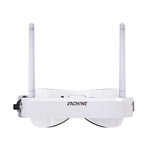 Eachine EV100 FPV Goggles Headset 720 * 540 5.8G 72CH con Antena de Doble Ventilador 7.4V 1000mAh Batería para RC Racing Drone Quadcopters por HankerMall