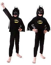 Fancydresswale Superhero Avenger Dress for Boys|Birthday Gift for Kids| Halloween Party Costume for Boys (Batman, 4-6 Years)