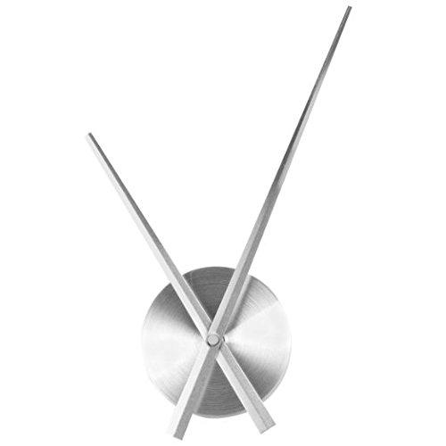 Lifeup- set meccanismo movimento + lancette argento silenzio , orologio da parete tavolo fai da te! accessori orologi decorazione casa camera da letto soggiorno