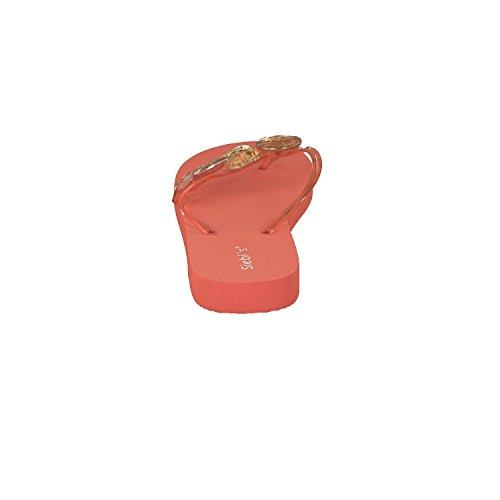 Siebi's MIAMI Modische Badeschuhe Flips Damen Orange