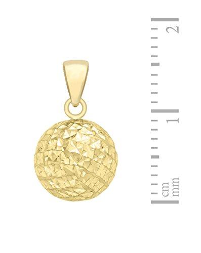 Carissima Gold Damen Rolokette Mit Anhänger 9k (375) Gold Diamant-geschnitten Ball 46cm/18zoll