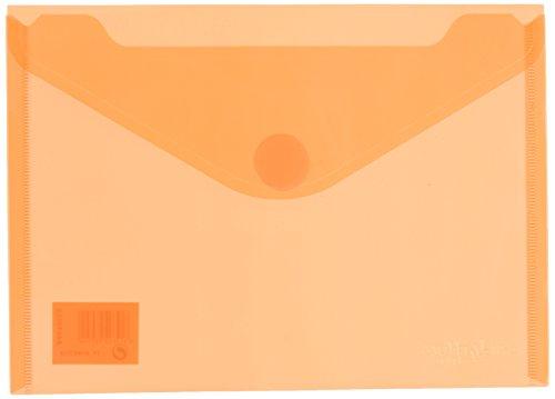 Grafoplás 04872552 - Carpeta sobre plástico A5 -10 unidades color naranja