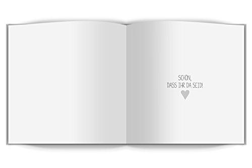 Gästebuch mit Fragen und Blanko-Seiten