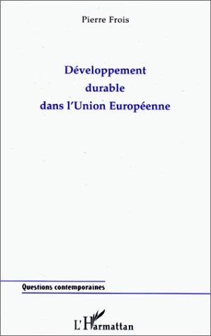 Développement durable dans l'Union européenne