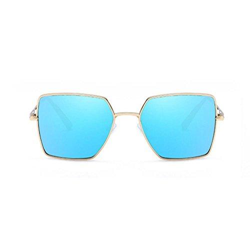 RLJJSH Sonnenbrillen neutrale Sonnenbrillen, Mode Metallrahmen Platz Sonnenbrillen Klassische Farbe Luxus Aviator Spiegel Objektiv Gläser Reisen Sonnenbrillen Sonnenbrille