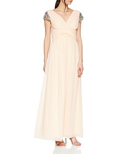 Little Mistress Jewel Sleeve Maxi Dress, Vestido de Fiesta para Mujer, Rosa...