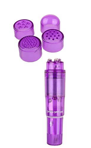 lver Bullet Massager mit 4 austauschbaren Köpfen Pocket Rockets Vibe Wireless Bullet Av Stick G Vibro Personal Pleasure Massager -Color zufällig ()