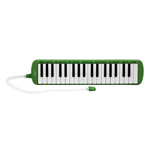 gazechimp 37 Tasten Mundharmonika Tastatur Mit Etui, Melodica Bestes Musikalisches Geschenk Für Anfänger Studenten Erwachsene Kinder Kinder - Grün