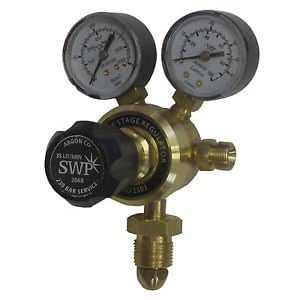 Tecnoweld 82360/Mig Gas Regulator 2/Gauge Argon//CO/²