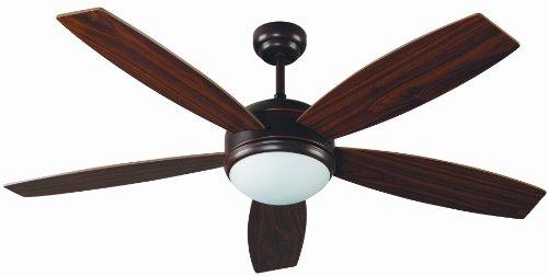 Faro Barcelona 33314 - VANU Ventilador de techo con luz 5 palas de madera accionado por mando a distancia incluido