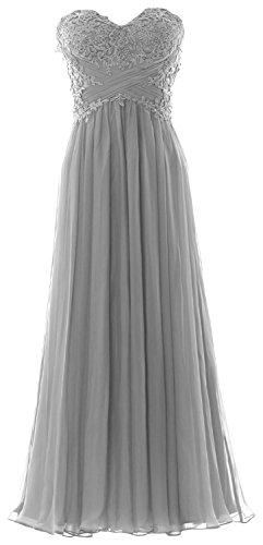 MACloth - Robe - Trapèze - Sans Manche - Femme Argent