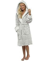 Ladies Dressing Gown Shaggy Soft Fleece Women Gowns Robe Bathrobe Loungewear for her