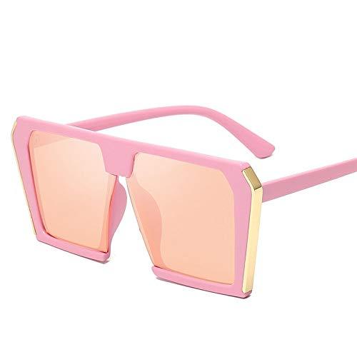 WSXCDEFGH Große quadratische Sonnenbrille-Frauen-übergroße Marken-Sonnenbrille-weibliche Dame Shades