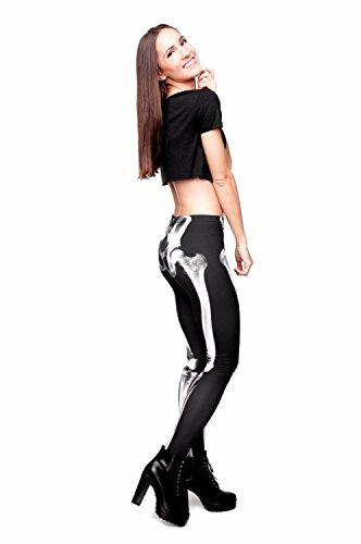 Kukubird Verschiedene Einhorn Flamingo Emoji Patterns Frauen Gym Fitness Leggings Running Yoga Pilates Skinny Hosen Strumpfhosen Größe 8 bis 12 Stretchable Bones