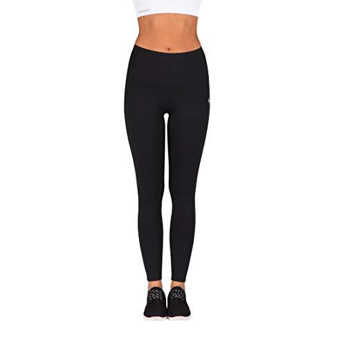 Ultrasport Advanced Leggings de deporte para mujer Silhouette con función moldeadora, Negro, XL