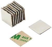 first4magnets F350SA-10 N42 - Juego de 10 imanes de neodimio (adhesivos, 15 x 15 x 1 mm, con fuerza de sujeción de 1,2 kg) de first4magnets®