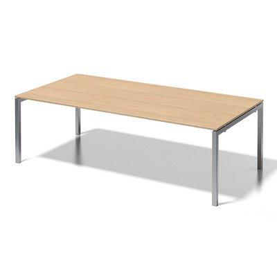Bisley Cito Chefarbeitsplatz/Konferenztisch, 740 mm Höhenfixes U H 19 x B 2400 x T 1200 mm, Dekor Ahorn, Gestell Silber, Metall, Mp355 Dekor Ahorn,...