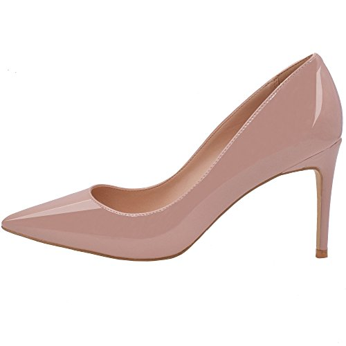 Lovirs , Damen Pumps Beige hautfarben