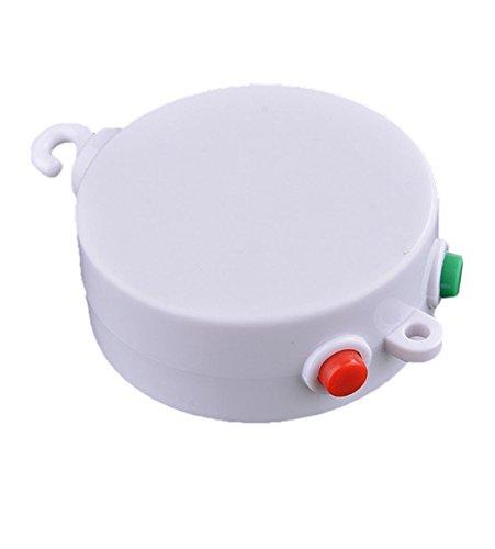 SODIAL (R) Baby Mobile Krippe Bett Glocke Elektrische Auto Rotation Musik Weisse Box 12 Melodies Lied