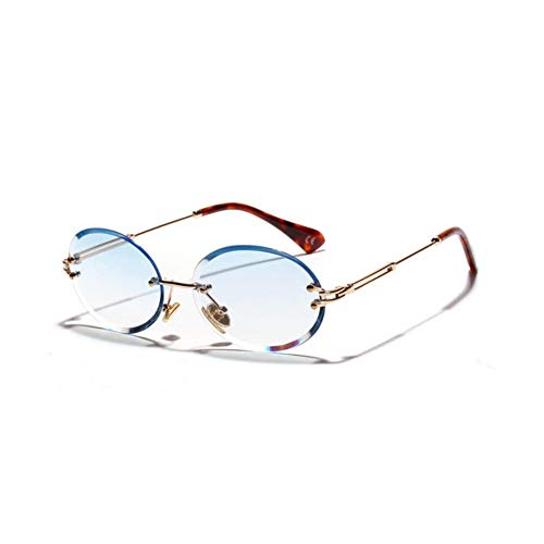 TIANKON Retrooval Sonnenbrille-Frauen-Dame Clear Lens Crystal Sun Glasses für weibliche Eyewear Uv400-Brillen,Blaud