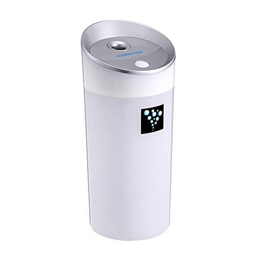 GJ@ Ultraschall-Luftbefeuchter-Umgebung, Wasser-Cup-Mini-Form-Luftbefeuchter, Auto-Luftbefeuchter, leiser Betrieb, leicht zu tragen, und LED leuchtende Zeichen (72 * 165mm) ## (Farbe : Weiß)