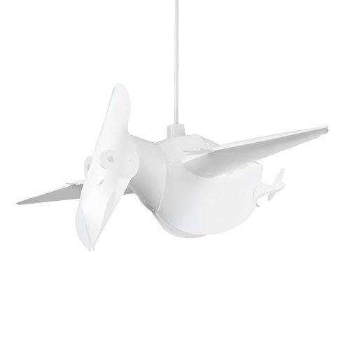MiniSun – Moderner und weißer Lampenschirm in Gestalt von einem Pterodaktylus fürs Kinderzimmer – für Hänge- und Pendelleuchte