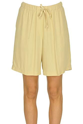 Dries van Noten Crepè Shorts Woman Yellow 36 FR